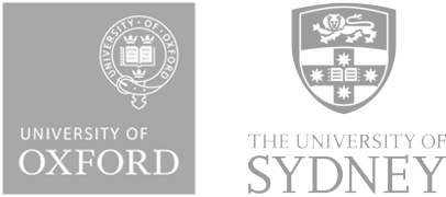 University of Oxford logo and University fo Sydney logo